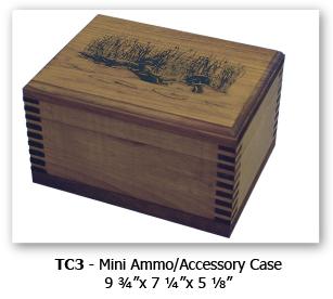 Wood ammunition boxes